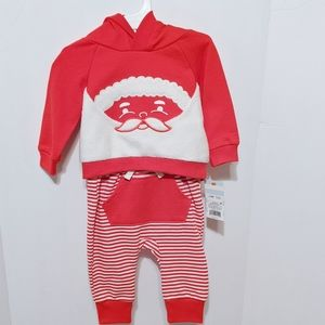 Cat &Jack Hooded Red/White Outfit 3-6 months